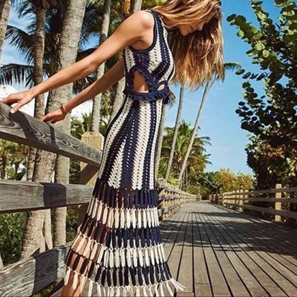 1f44595a19fd Dresses   Foxy 5 Fave Striped Crochet Cutout Dress   Poshmark